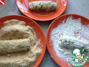 The remainder of the protein mixed with water. Rice stick first dip in a mixture of protein and water, then dip them in flour again, dip in and dip protein already in the crackers.
