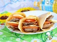 Двойной гамбургер из блинов ГамБЛИНгер ингредиенты