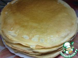 Prepare pancakes according to your favorite recipe.
