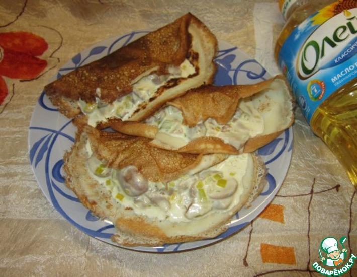Рецепт: Сливочно-грибной соус с сыром Дор Блю