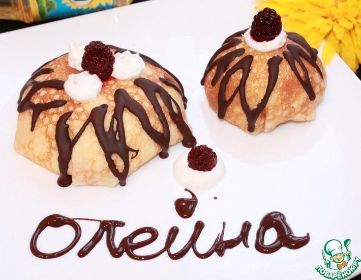 Рецепт: Блинное пирожное с ягодами