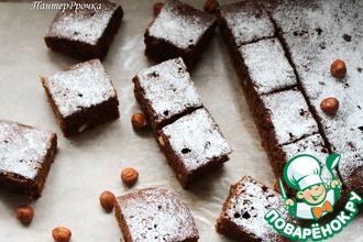 Рецепт: Кофейно-шоколадный пирог с черносливом