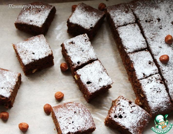 Кофейно-шоколадный пирог с черносливом