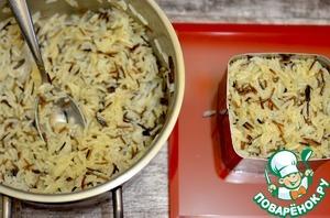 Рис сразу приобретёт потрясающий вкус.    Для порций можно воспользоваться формой.