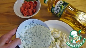 Feta cheese mash, and mix with the mass of blender.