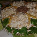 Закусочный блинный торт Подсолнух