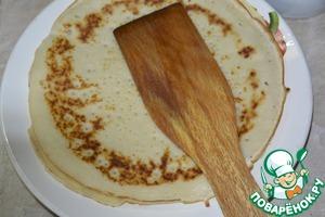Bake thin pancakes.