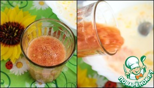 Soda to dissolve in the tomato mixture and pour in the bulk.