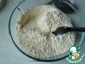 10 g of soda mixed with flour