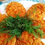 Веганские морковные котлеты с отрубями