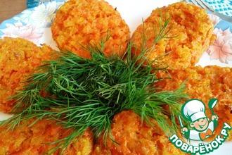 Рецепт: Веганские морковные котлеты с отрубями