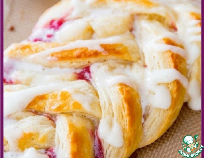 Рецепт: Пирог с малиной
