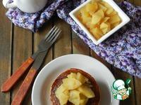 Панкейки с яблочно-коричным гарниром ингредиенты