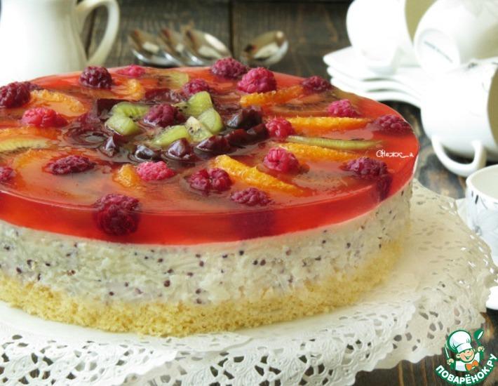 Рецепт: Фруктово-рисовый торт