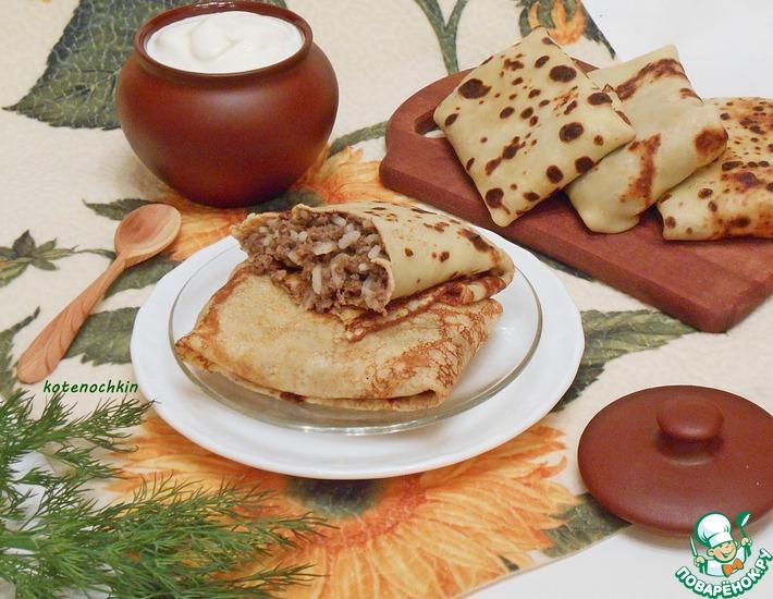 рецепт блинов с сердцем и грибами