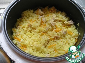 After completing the program, rice mix well with a silicone spatula and leave in the
