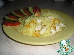 Подавать плов со свежими овощами. Приятного аппетита!