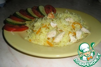 Рецепт: Курица с рисом или плов в мультиварке