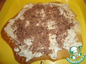 Sprinkle 1 tbsp of grated chocolate. This procedure is done with 4 layers.