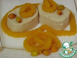 But this chicken liver pate with pumpkin sea-buckthorn sauce which can be served separately, as a separate dish. Bon appetit! To reduce the cooking time, chicken liver pate suggest to cook the day before.