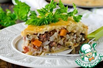 Рецепт: Пирог с рисом и потрохами