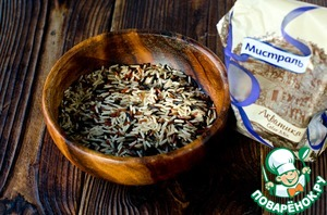 """For this recipe we will need 1 Cup of rice """"Aquatica Color Mix"""" from TM Mistral."""