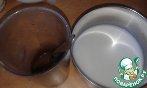 While it is possible to make chocolate pudding. For this milk put 2 tablespoons of sugar diluted in a small amount of hot water, cocoa. Stir in 50 ml of water starch