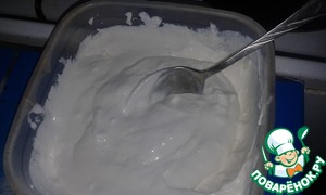 For cottage cheese cream curds, sour cream and 2 tablespoons sugar whisk immersion blender