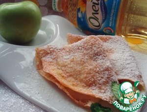 Ready pancakes sprinkle with powdered sugar and enjoy!