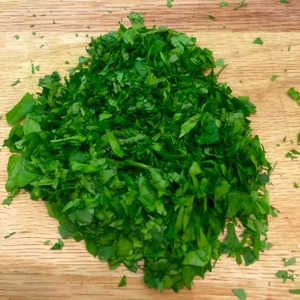 Parsley finely chop.