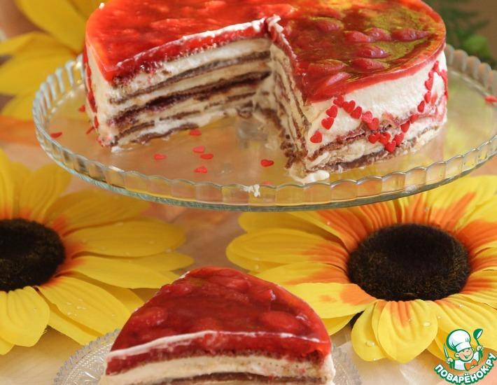 Рецепт: Шоко-блинный торт для Олейны