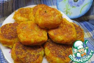 Рецепт: Картофельно-морковные котлетки