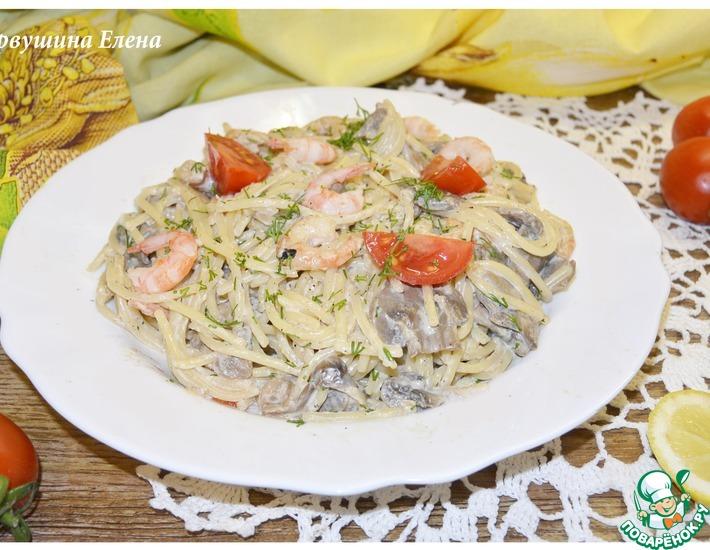 Рецепт: Спагетти с соусом А-морэ