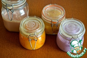 "All the sweet sauces to ""Pancake bar"" can be cooked in advance and kept in the refrigerator."