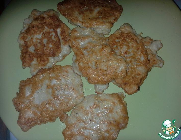 Рецепт: Куриные оладушки нежные