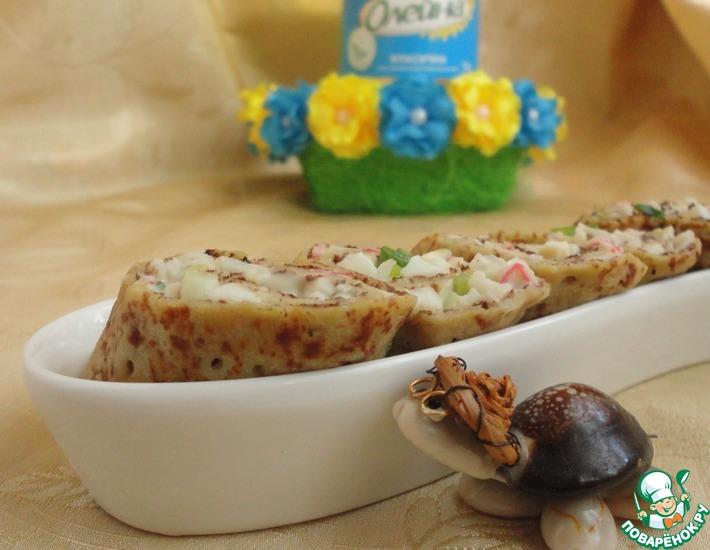 Рецепт: Картофельные блинчики карри с крабовыми палочками
