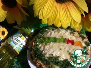 Рецепт Блинный торт с помидорами и сырным кремом