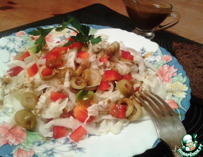 Рецепт: Салат из пекинской капусты Пикантный