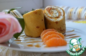 Cut diagonally each pancake and you can treat. Bon appetit!