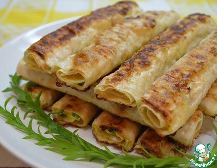 Лаваш с вареной колбасой и плавленым сыром рецепт с фото