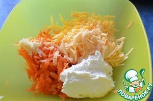 Добавляем чеснок и творог (я творог делала сама по рецепту Балерины http://www.povarenok .ru/recipes/show/162  89/. Кстати, мой сынулька ест только этот творожок)