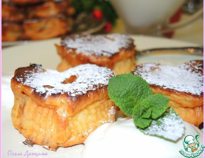 Рецепт: Творожники с абрикосами