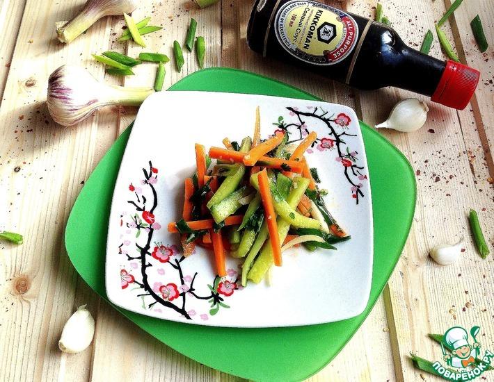 Рецепт: Салат с огурцами по-корейски