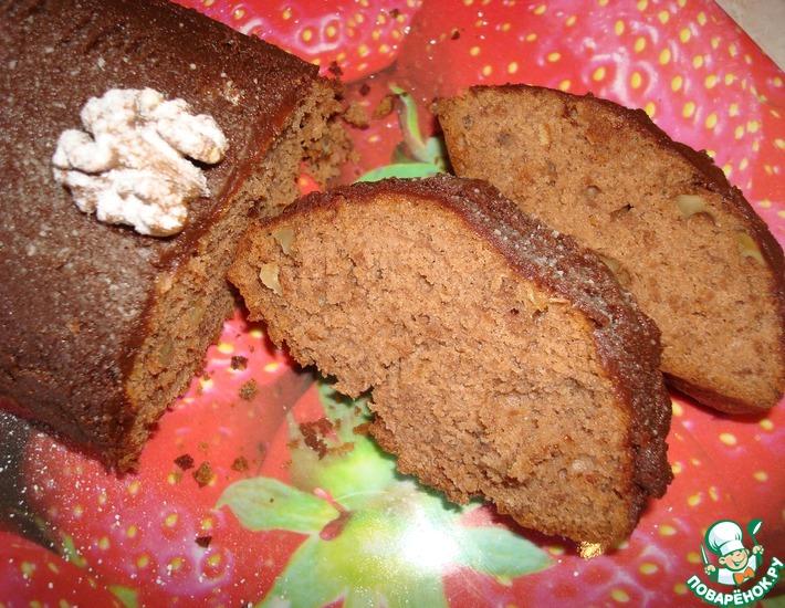 Рецепт: Кекс ореховый с какао