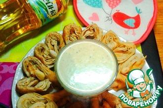 Рецепт: Фисташково-мятный соус к блинам