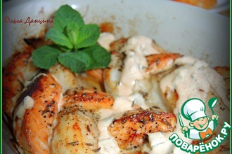 Рецепт: Рыбьи косы под соевым соусом