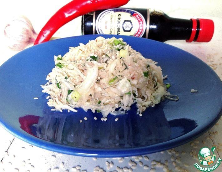 Рецепт: Салат из капусты Острый