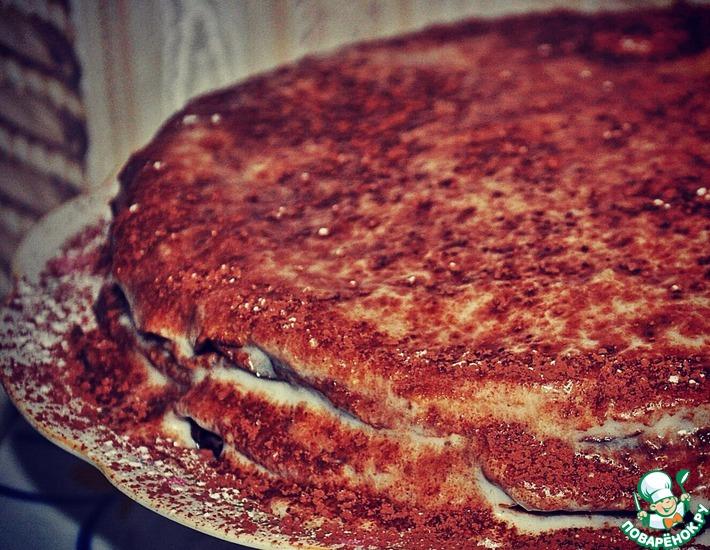 Рецепт: Блинный торт с банановым вкусом