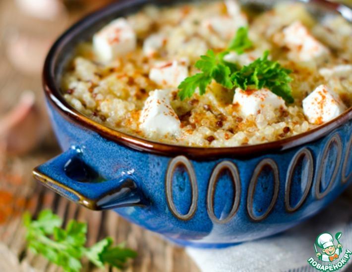 Рецепт: Густой суп с киноа и сыром фета