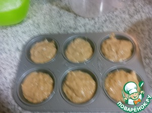 We put our cupcakes in a preheated 180C the oven. Bake for 15-20 minutes. Look at your oven and check with a wooden stick.